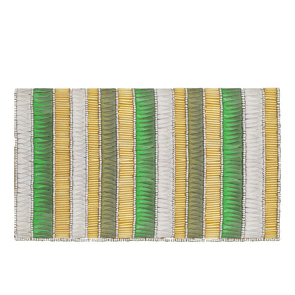 Andromeda Foldover Clutch Green/Gold-From St Xavier