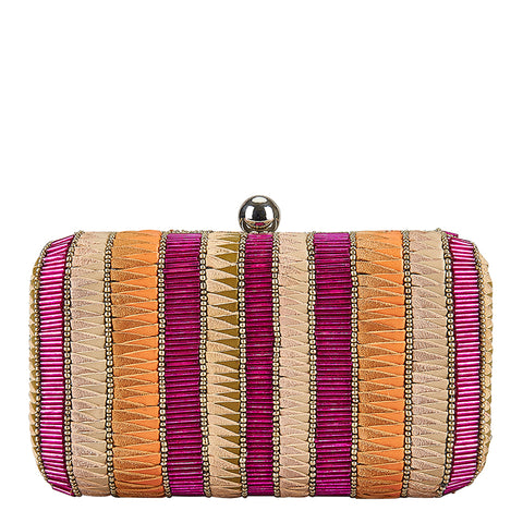 Andromeda Box Clutch Pink/Gold