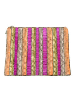 Andromeda Zip Clutch Pink/Gold-From St Xavier