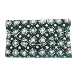 Arabella Clutch Emerald-From St Xavier