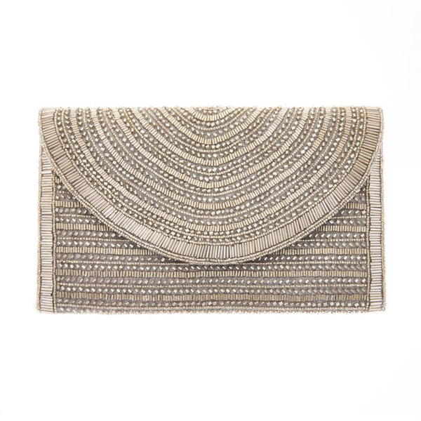 Bailey Clutch Silver-From St Xavier