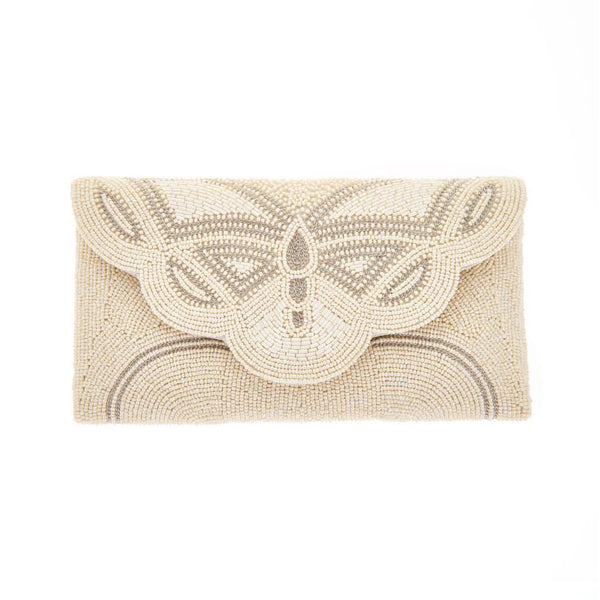 Barbara Clutch Ivory-From St Xavier