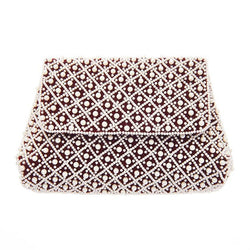 Baroque Clutch Maroon-From St Xavier