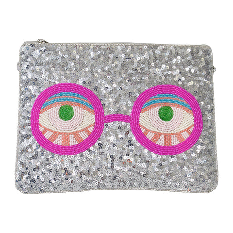 Blink Zip Clutch-From St Xavier