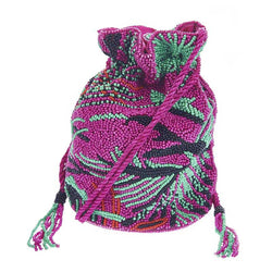 Catalina Drawstring Bag Bright Pink-From St Xavier