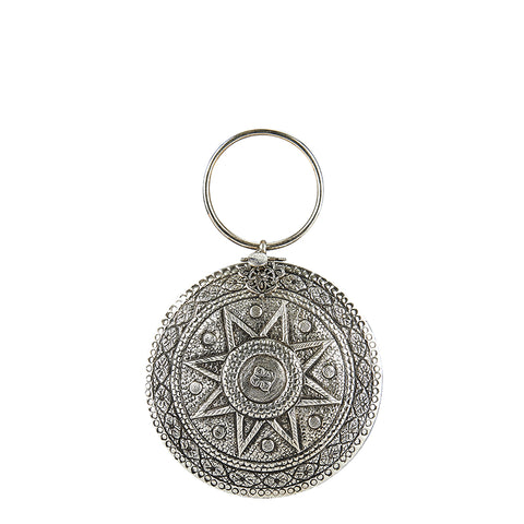 Celestial Metal Ring Bag Silver
