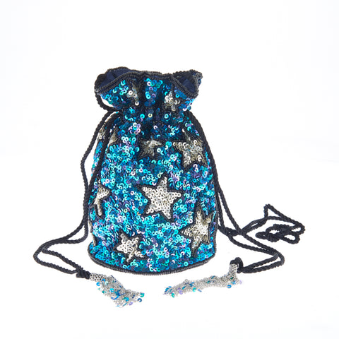 Confetti Stars Drawstring Blue-From St Xavier