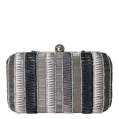 Andromeda Box Clutch Black/Silver-From St Xavier