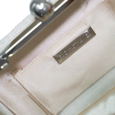 Wifey Box Clutch Ivory/Rose Gold-From St Xavier