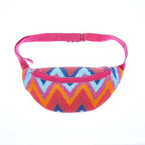 Dara Waist Bag Orange/Blue-From St Xavier