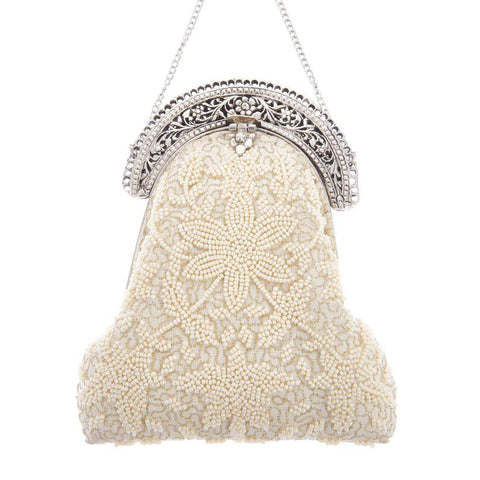 Delilah Purse Clutch Ivory-From St Xavier