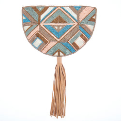 Eden Clutch Peach Ivory-From St Xavier