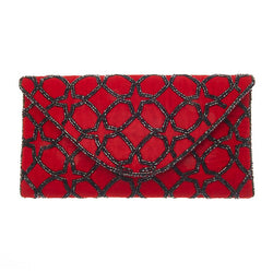 Eira Clutch Red-From St Xavier