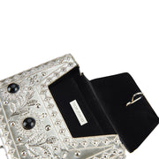 Elmie Metal Bag Silver/Black-From St Xavier