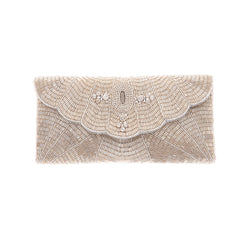 Estelle Clutch Silver-From St Xavier