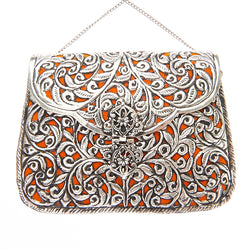 Ezra Bag Silver/Orange-From St Xavier