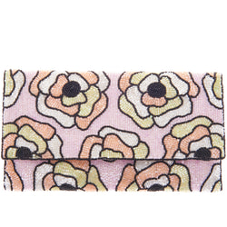 Flora Foldover Clutch Light Pink-From St Xavier
