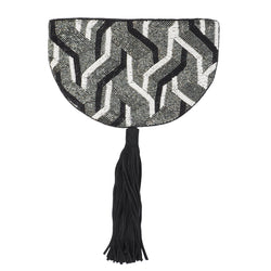 Rhodes Clutch Black Grey-From St Xavier