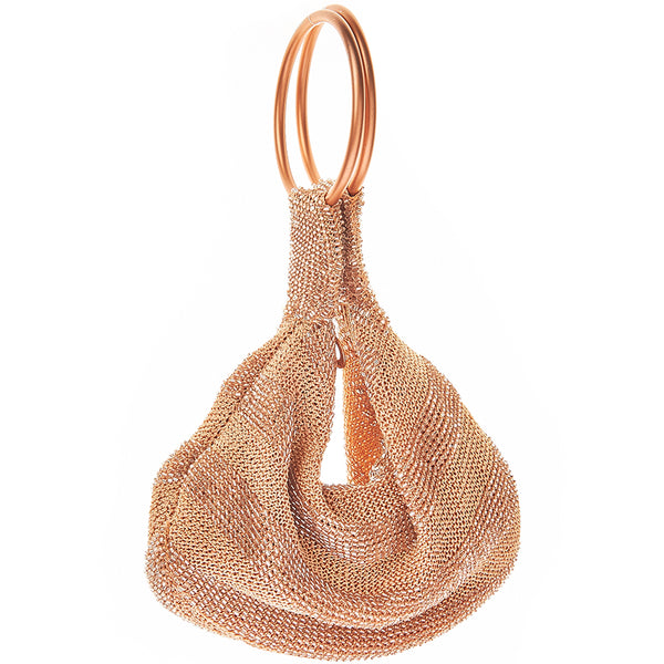 Goldie Ring Bag Rose Gold-From St Xavier