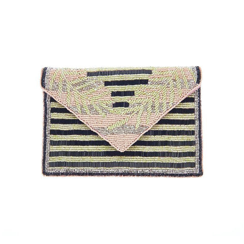 Havana Clutch Pink Green-From St Xavier