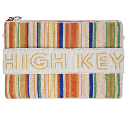 High Key Zip Clutch-From St Xavier