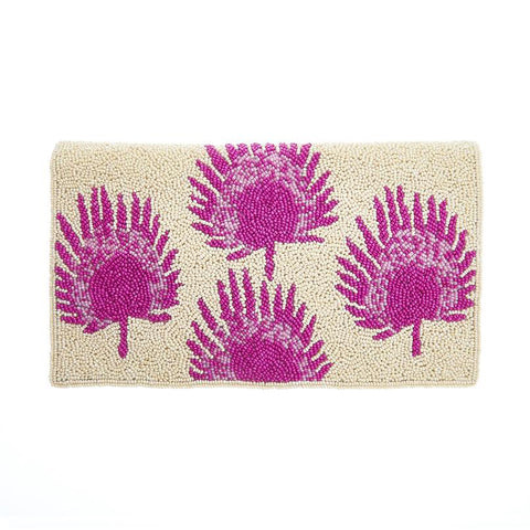 Isla Clutch Cream Pink-From St Xavier