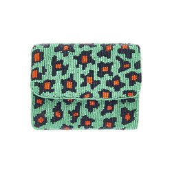 Jungle Leopard Clutch Green-From St Xavier