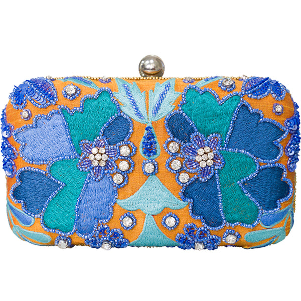 Kaleidoscope Box Clutch Mustard-From St Xavier