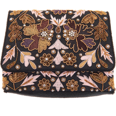 Kaleidoscope Foldover Bag Black-From St Xavier