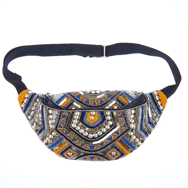 Kezzy Waist Bag Orange Blue-From St Xavier