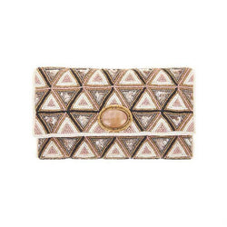 Liberty Clutch Ivory Amber-From St Xavier