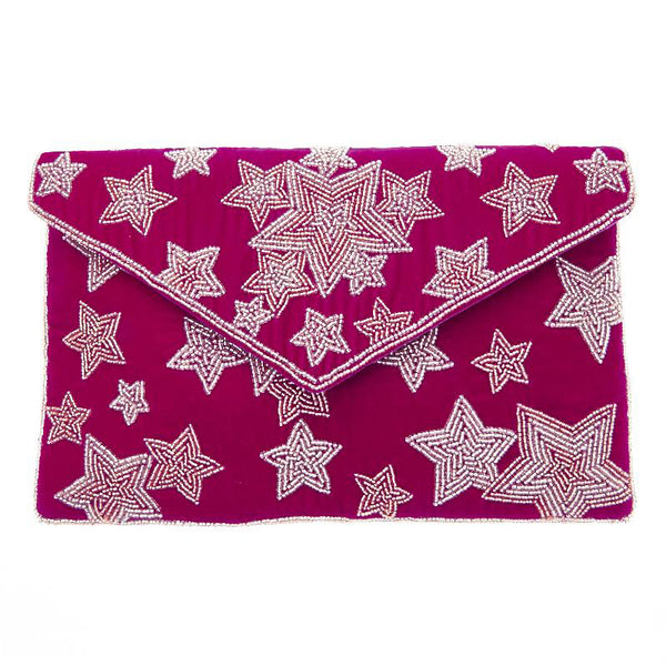 Luella Clutch Pink-From St Xavier