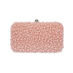 Marcela Box Clutch Peach-From St Xavier