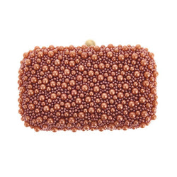 Marcela Box Clutch Copper-From St Xavier