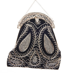 Mughal Clutch Black-From St Xavier