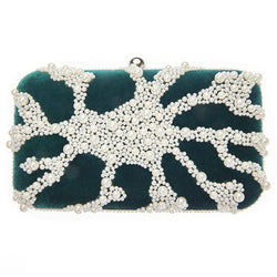 Nador Box Clutch Emerald-From St Xavier