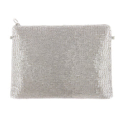Olwen Clutch Silver-From St Xavier