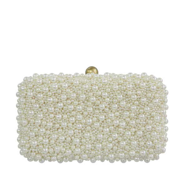 Marcela Box Clutch Ivory-From St Xavier