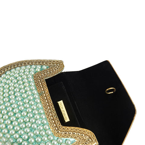 Pearl Metal Bag Gold/Mint
