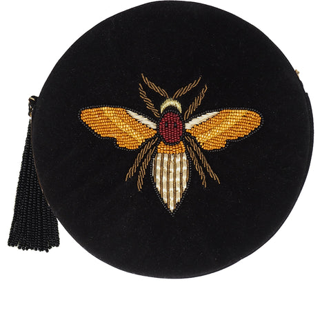 Queen Bee Zip Clutch-From St Xavier