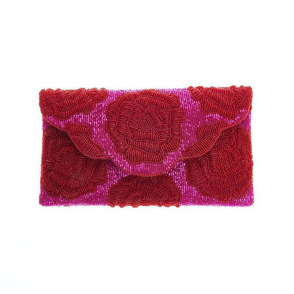 Rosie Envelope Clutch Dark/Red-From St Xavier
