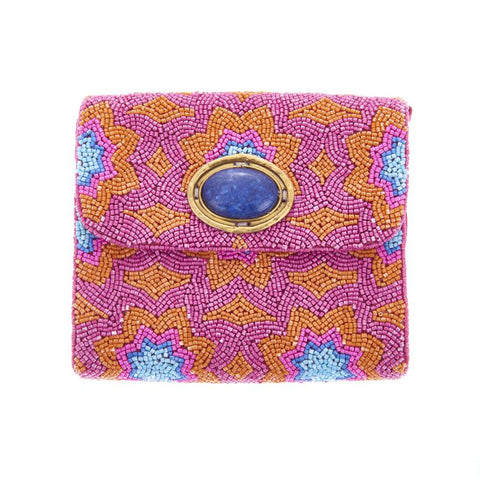 Sabrina Clutch Pink Orange-From St Xavier