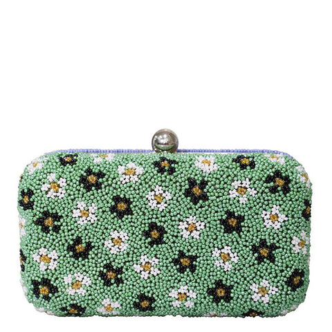 Split Floral Box Clutch-From St Xavier