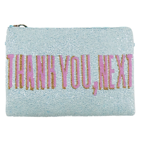 Thank You Next Zip Clutch-From St Xavier