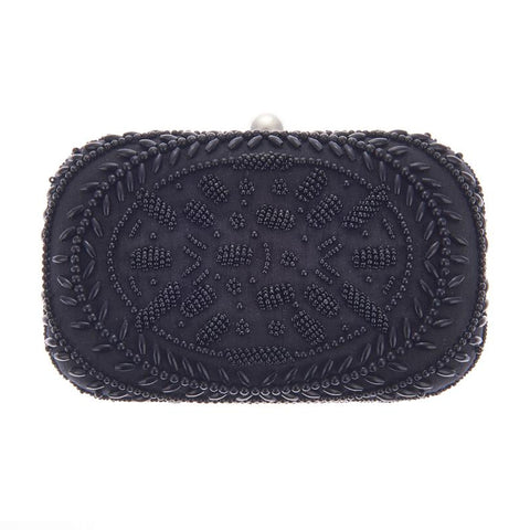 Victoria Box Clutch Black-From St Xavier