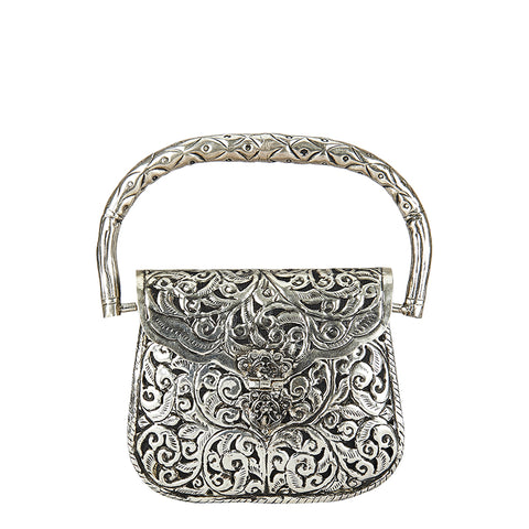 Vineyard Mini Metal Bag Silver