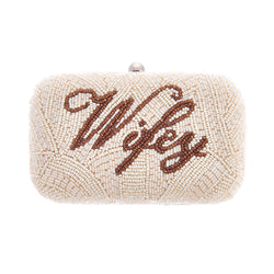 Wifey Box Clutch Ivory-From St Xavier