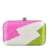 Zag Box Clutch Pink/Green-From St Xavier