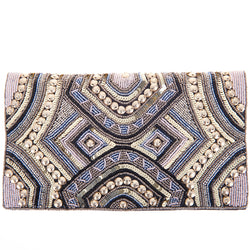Ziggy Aztec Foldover Clutch-From St Xavier