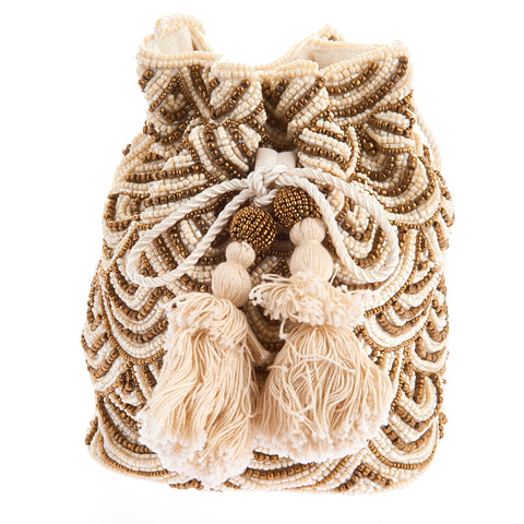 Nevada Drawstring Ivory Amber-From St Xavier
